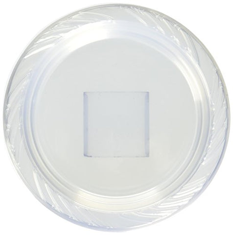 Blue Sky 40 Count Heavyweight Plastic Plates, 7 , Clear