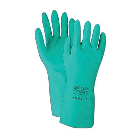 Ansell Gloves 102934 Ansell Sol-Vex 37-155 Unsupported Nitrile Gloves, Size 9, Green
