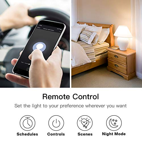 Smart Dimmer Switch, Treatlife Wifi Light Switch For Dimmable Led, Halogen  And Incandescent Bulbs, Compatible With Alexa, Google Assistant And Ifttt,
