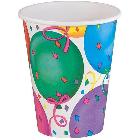 Hanna K. Signature Collection Healy'S Balloons Hot And Cold Paper Cup, 9-Ounce, 12 Per Pack
