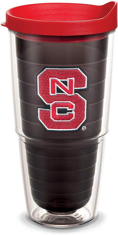 Tervis 1055319 Nc State Wolfpack Logo Tumbler With Emblem And Red Lid 24Oz, Quartz