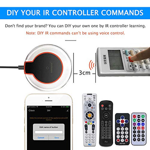 Eachen Ir Control Hub Wi-Fi(2 4Ghz) Enabled Infrared Universal Remote  Controller For Air Conditioner Tv Dvd Using Tuya Smart Life App Compatible  With