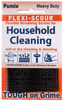 "Pumie Flexi-Scour Flexible Scrubbing Screen For Household Cleaning, 5.5"" X 4"", Abrasive Grit Cleaning Screen, Clean Grills, Remove Carbon, Rust And Scale"
