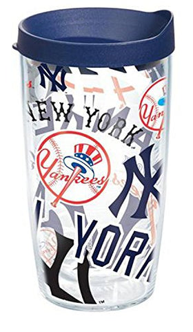 Tervis Tumbler Mlb New York Yankees All Over Wrap 16Oz With Travel Lid