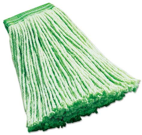"Rubbermaid F136Lgr Synthetic Wet Mop Heads Green 16 Oz 5"" Headband 6/Carton"