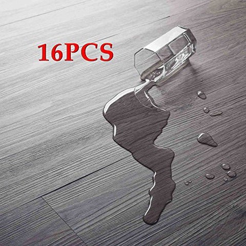 16 Pcs/24 Square Feet, Co-Z Odorless Vinyl Floor Planks Adhesive Floor Tiles 2.0Mm Thick, Environmental-Friendly (Grey)