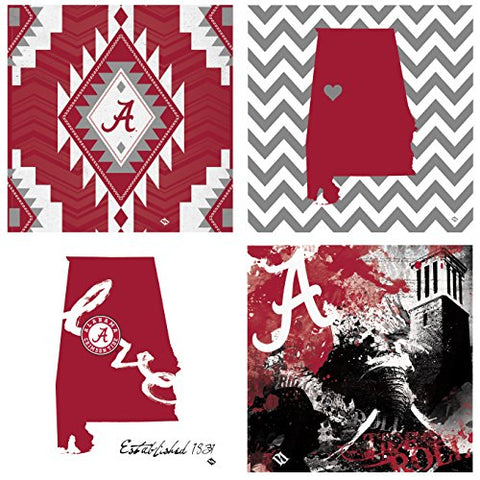 Thirstystone 4-Piece University Of Alabama Spirit A/4 Coaster Set