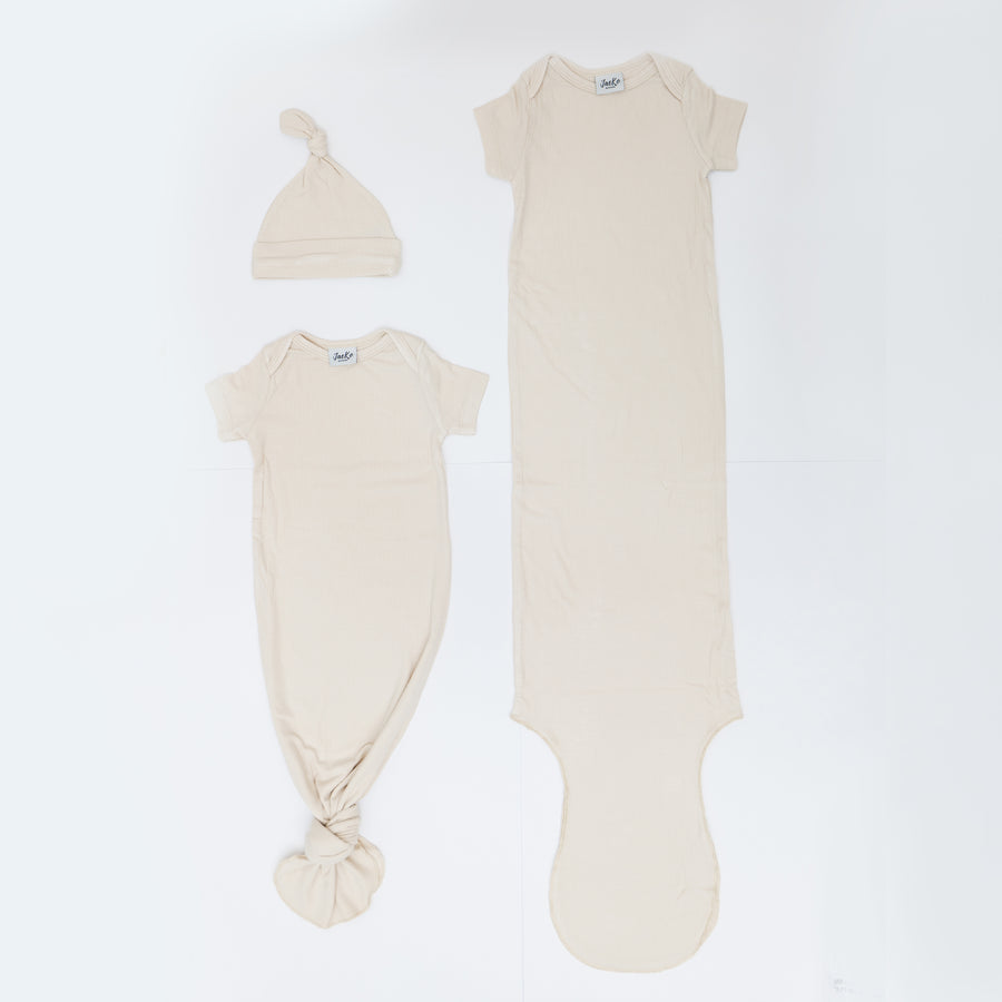 Short Sleeved Knotted Gowns Buy 3 Free 1