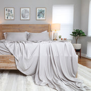 Simply Organic Bamboo Sheet Set - silver dream front angle