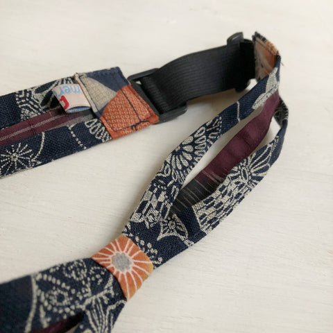 Japanese fabric triple headband, Adjustable Floral