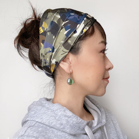Yoga headband - Stretchy Jersey - Camouflage Butterfly