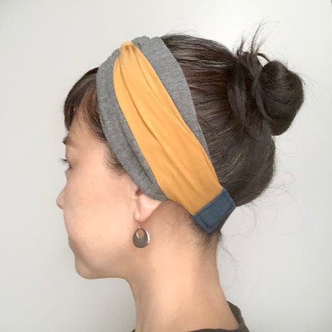Knot headband Rusti - Gray and color