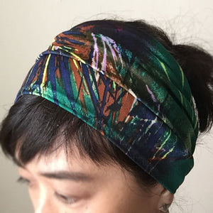 Yoga headband - Stretchy Jersey - Green