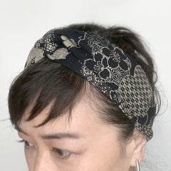 Twist Headband, Japanese Flower