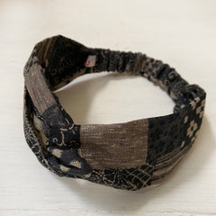 Twist Headband, Japanese Patchwork