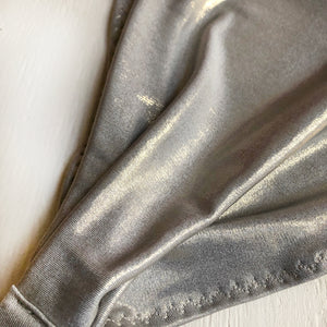Yoga headband - Stretchy Jersey - Silver Gold