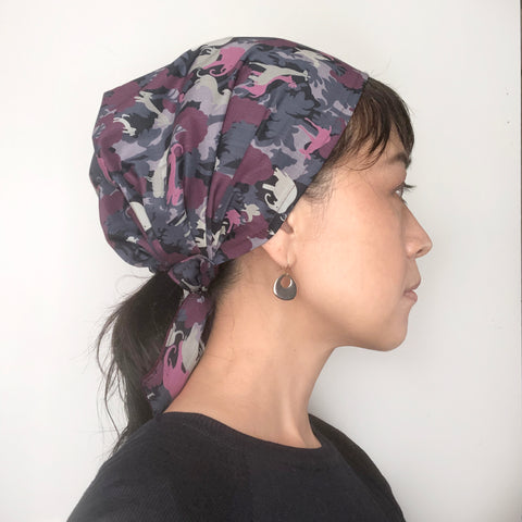 Head covering Scarf Animal Purple