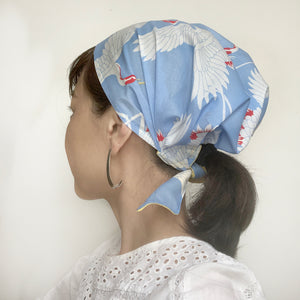 Baby Blue Crane Head Covering Scarf