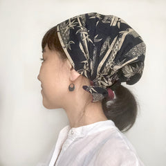 Japanese Bamboo Head Covering Scarf