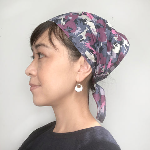 Head Scarf Animal Purple