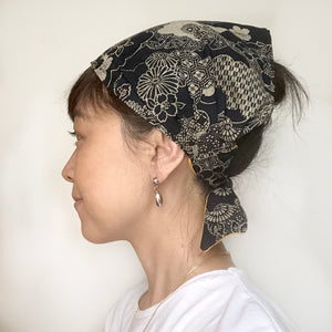 Japanese Floral head scarf