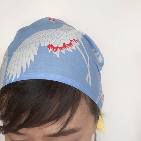 Baby Blue Crane head scarf