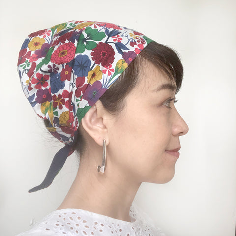 Multi color Floral head scarf