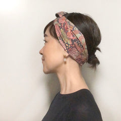 Pink Floral print head scarf - Head wrap