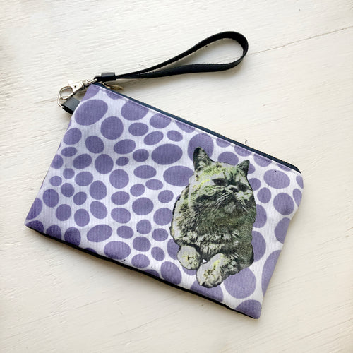 cat and Polka Dots pouch