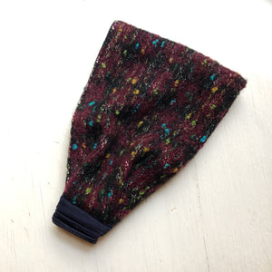Wool head band Ear warmer Purple