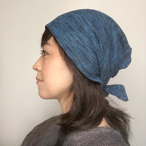Winter Hat Tie Blue
