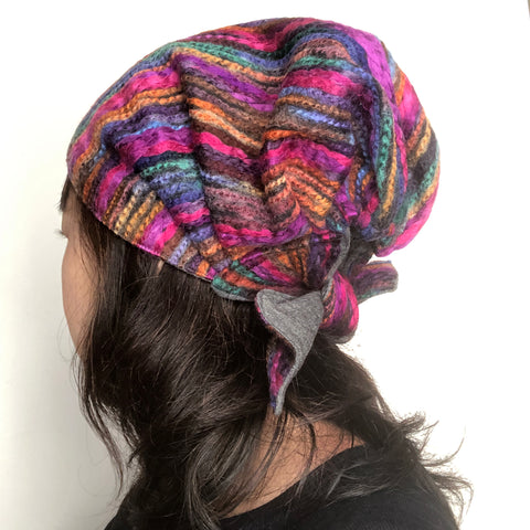 Winter Hat Multicolor Pink