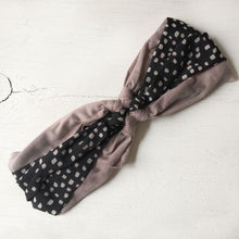 Knot Headband polka dots,Black, Gray or Sand - Fancy