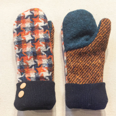 Mittens Vintage Orange - Fall Winter Gloves