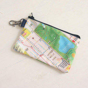 NYC Map Pouch, Central park, Upper west, Upper east