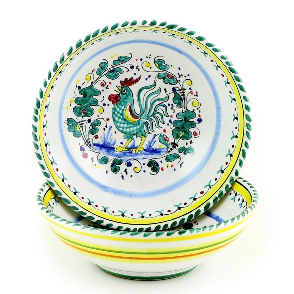 ORVIETO VERDE: Round Traditional Pasta Soup Cereal Bowl