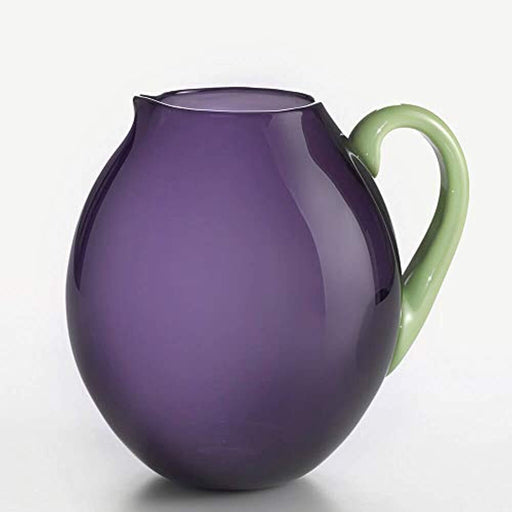 Dandy Pitcher Blue Periwinkle with Pea Green Handle