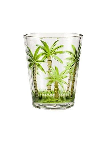 Acrylic Palm Tree  14 Oz  Tumbler Set of 4