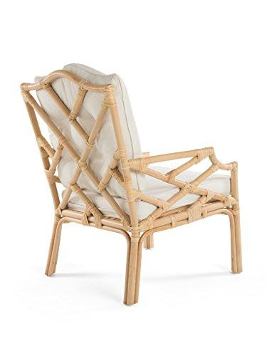 Rattan Chippendale Lounge Chair