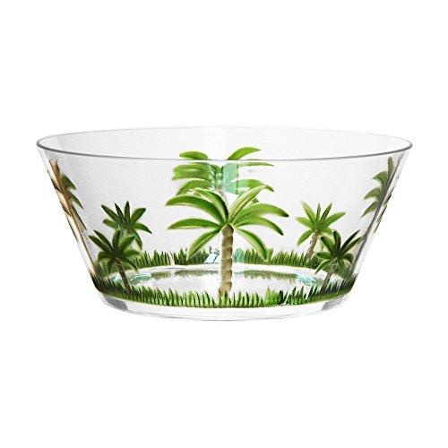 Acrylic Palm Tree Large Bowl