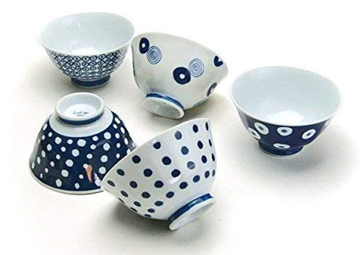 Traditional Japanese  rice bowl set of 5 1