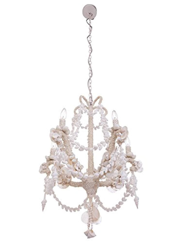 White Seashell Candelabra Chandelier