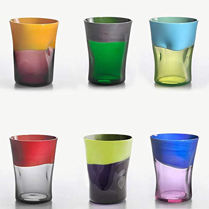 Se 6 water glasses different colors mod.2