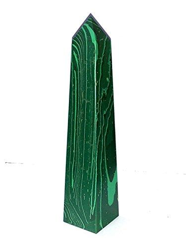 Malachite Obelisk Tower Reiki Gemstones  Green Wand  Spiritual Healing