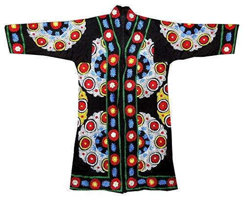 Vintage Uzbek Robe silk embroidered on new cotton Buchara   Sold
