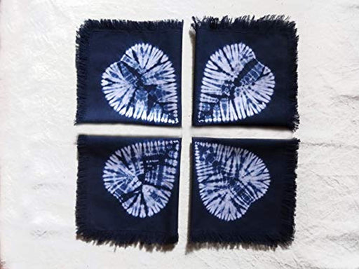 Handmade Hand Dyed Cotton Napkins Set of 4
