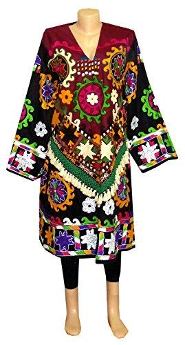 Uzbek Lakai  Silk Handmade embroidered Chemise Dress  A11283