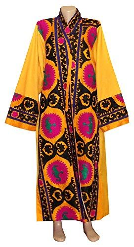 Vintage Uzbek Silk Hand Embroidered Robe Bukhara   A11389