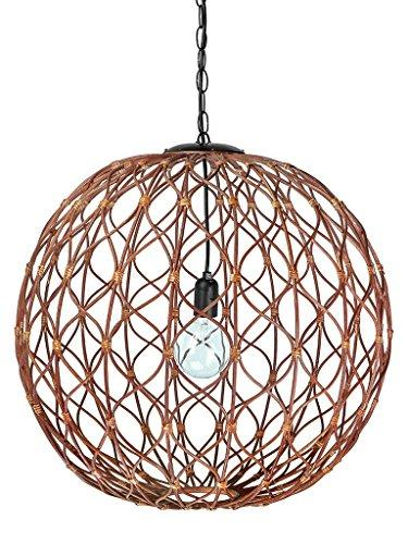 "Infinity Wicker Sphere Pendant lamp, 24"" x 24"" x 24"""