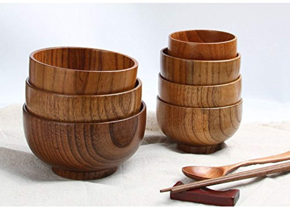 Solid Wood Bowl, for Rice, Soup, Dip
